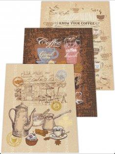 Полотенце двунитка Кофе
